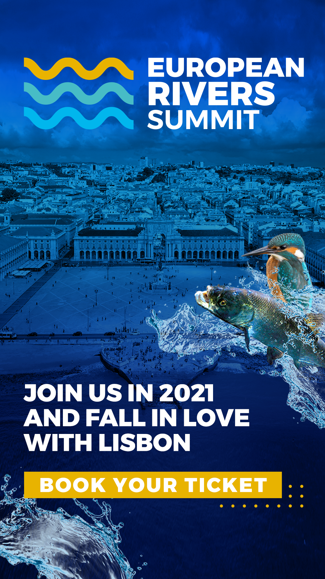 European Rivers Summit 2021 Social Media Story. Download our Media Kit to help us share the European Rivers Summit 2021 content on your social media and other platforms.